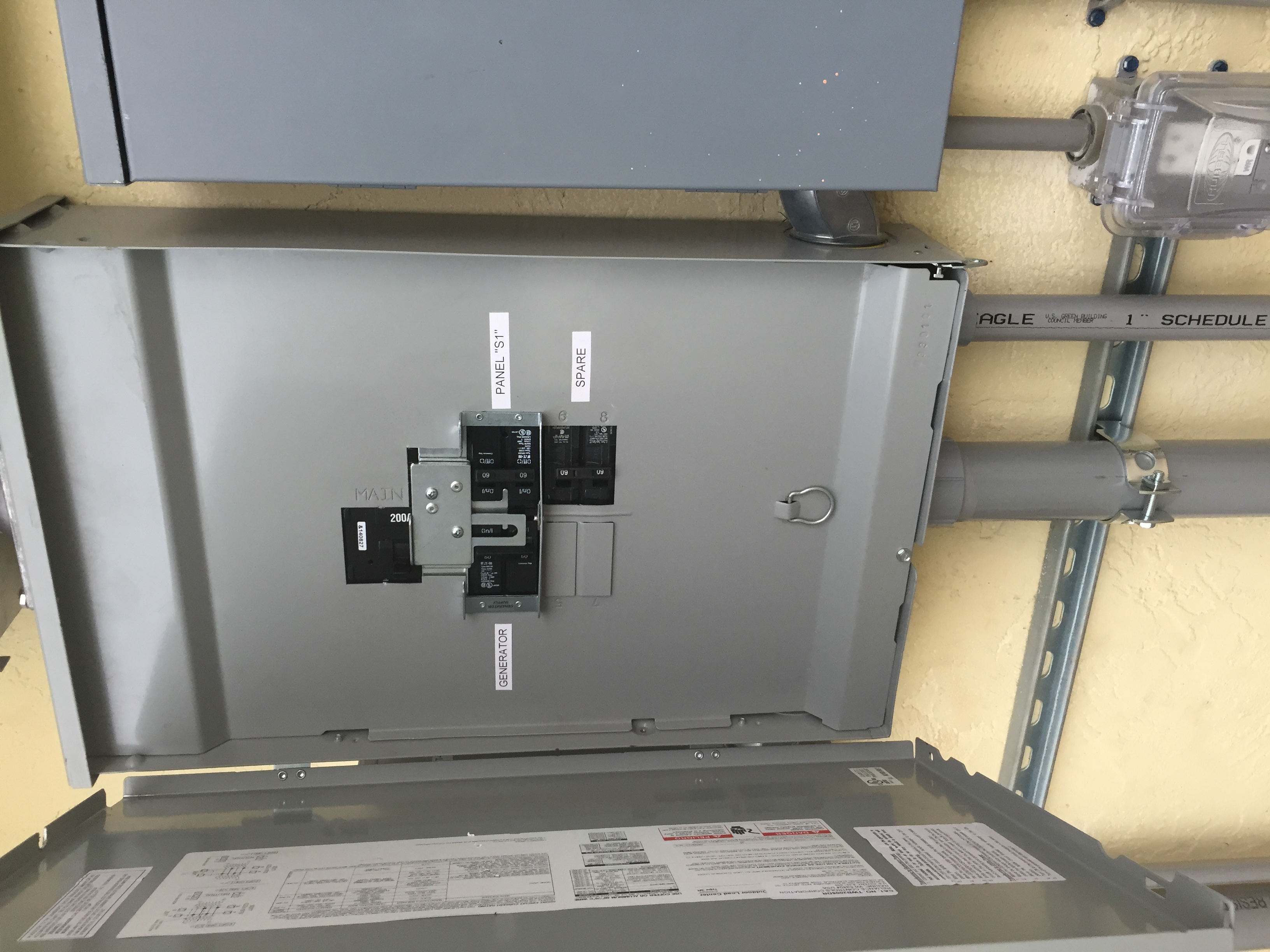 Installation of transfer switch for generator